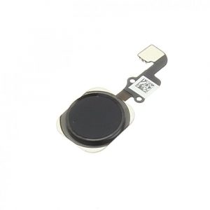 Home button Flex Cable + Homebutton Black - 6/ 6 Plus