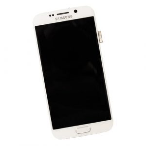 LCD Touchscreen Assembly WHITE, Galaxy S6 EDGE; G925F,