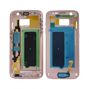 Wholesale spare parts Middle Cover PINK GOLD Galaxy S7 | Minpex